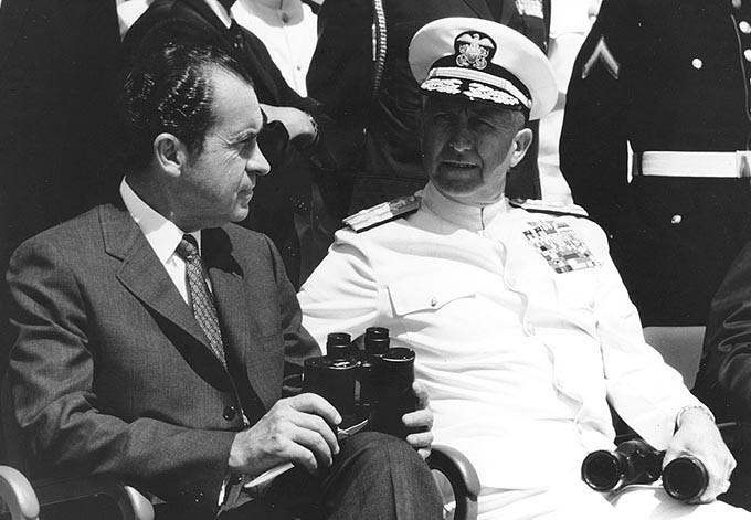 President Nixon and Admiral Thomas Moorer
